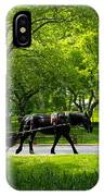 Horse And Carriage Central Park IPhone Case