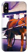Horse And Carriage In Front Of Lafitte's Blacksmith Shop  IPhone Case
