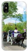 Horse And Carriages Central Park IPhone Case