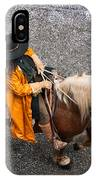 Horse And Rider From Above IPhone Case