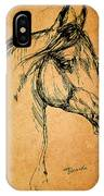 Horse Drawing IPhone Case