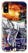 Horse Drawn Carriage Night IPhone Case