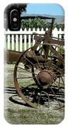 Horse Drawn Plow IPhone Case