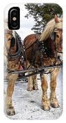 Horse Drawn Sleigh IPhone Case