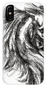 Horse Face Ink Sketch Drawing - Inventing A Horse IPhone Case