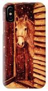 Horse In Snow IPhone Case