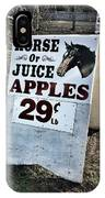 Horse Or Juice Apples IPhone Case