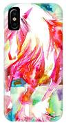 Horse Painting.22 IPhone Case