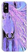 Horse Pale Purple 2 IPhone Case