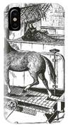 Horse Powered Stall Cleaner, 1880 IPhone Case