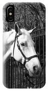 Horse Profile Mono IPhone Case