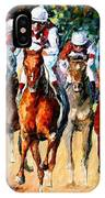 Horse Race - Palette Knife Oil Painting On Canvas By Leonid Afremov IPhone Case