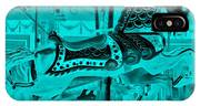 Turquoise Horse E IPhone Case