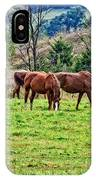 Horses Grazing IPhone Case