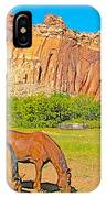 Horses On The Gifford Farm In Fruita In Capitol Reef National Park-utah IPhone Case