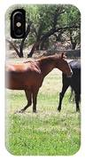 Horses Out Wickenburg Way IPhone Case