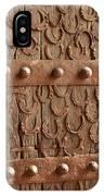 Horseshoes Decorate A Wooden Door, Jama IPhone Case