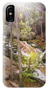Horsethief Falls Sunburst - Cripple Creek Colorado IPhone Case