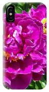 Hot Pink Peonies IPhone Case