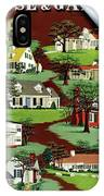House & Garden Cover Illustration Of 9 Houses IPhone X Case