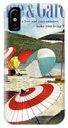 House And Garden Featuring Umbrellas On A Beach IPhone Case