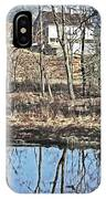 House And The Reflecting Pool IPhone Case