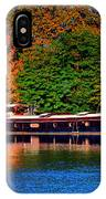 House Boat River Barge In France IPhone Case