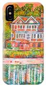 House By The Tidal Creek At Pawleys Island IPhone Case