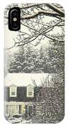House In Snow IPhone X Case