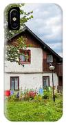 House In The Capathians Village IPhone Case