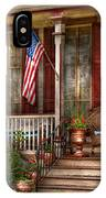 House - Porch - Belvidere Nj - A Classic American Home  IPhone Case