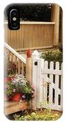 House - Rutherford Nj - My Grandmother's Garden  IPhone Case