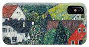 Houses At Unterach On The Attersee IPhone Case