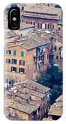 Houses Of Old City Of Siena - Tuscany - Italy - Europe IPhone Case