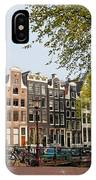 Houses On Singel Canal In Amsterdam IPhone Case