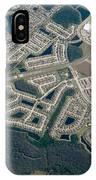 Housing Development Near Wetland IPhone Case
