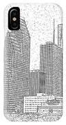 Houston Skyline Abstract IPhone Case