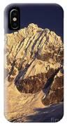 Mt Huandoy Sunrise Cordillera Blanca IPhone Case