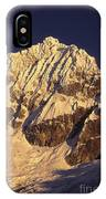 Mt Huandoy Sunrise Cordillera Blanca IPhone Case