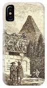 Hubert Robert, French 1733-1808, The Sarcophagus IPhone Case