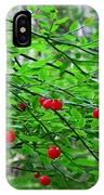 Huckleberry Bush IPhone Case
