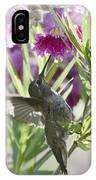 Hummingbird On A Desert Willow IPhone Case