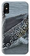 Humpback Whale  Lunge Feeding 2013 In Monterey Bay IPhone Case