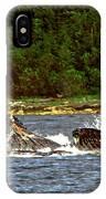 Humpback Whales Feeding IPhone Case