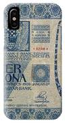 Hungary Banknote, 1902 IPhone Case