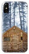 Hunting Cabin In Alberta IPhone Case
