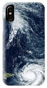 Hurricanes Maria And Jose IPhone Case