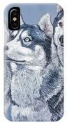 Huskies By J. Belter Garfunkel IPhone Case
