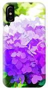 Hydrangea In Watercolor IPhone Case