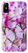 Hydrangea With Bright White Butterfly IPhone Case